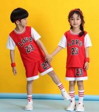 儿童篮球服套装秋冬幼儿园表演服小学生男女孩宝宝运动训练蓝球衣