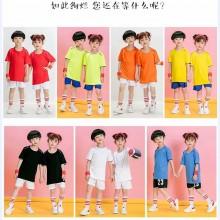 【足球服童装】童装男童运动训练服小学生中大童夏季短袖球衣印号儿童足球服套装
