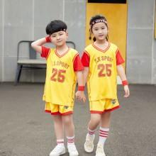 【儿童篮球服定做】休闲童装假两件套23号,童装假两件套16码-30码