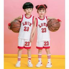 【篮球服定做童装】2823#新款篮服童装,可印字印号等