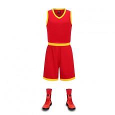 【篮球服】款式1833#,新款篮球服光板队服定制儿童成人篮球衣 篮球训练营印字印号