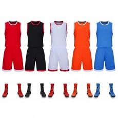 【篮球服,大人装和童装同款】2800#亲子篮球套装定制,可印字印号印LOGO